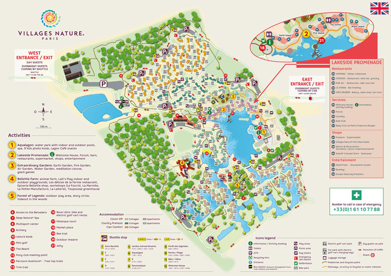Les Villages Nature Paris Map
